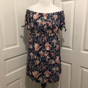 Dresses & Skirts - Floral Off Shoulder Mini Dress